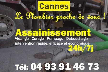 Assainissement - Curage - Débouchage - Pompage - Cannes