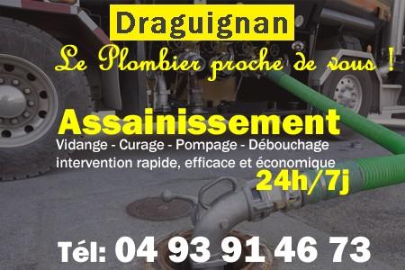 Assainissement - Curage - Débouchage - Pompage - Draguignan
