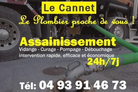 Assainissement - Curage - Débouchage - Pompage - Le Cannet