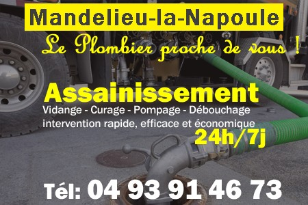 Assainissement - Curage - Débouchage - Pompage - Mandelieu la Napoule