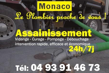 Assainissement - Curage - Débouchage - Pompage - Monaco