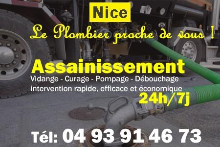 Assainissement - Curage - Débouchage - Pompage - Nice