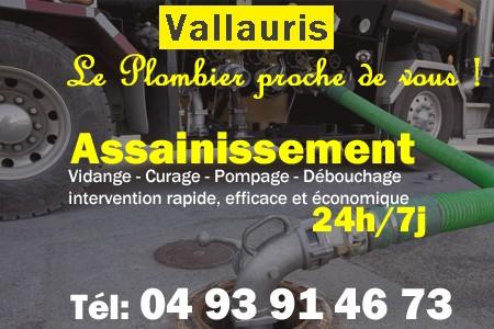 Assainissement - Curage - Débouchage - Pompage - Vallauris