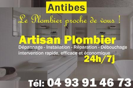 Plombier Antibes