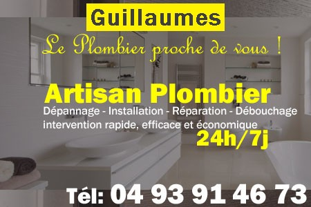 Plombier Guillaumes - Plomberie Guillaumes - Plomberie pro Guillaumes - Entreprise plomberie Guillaumes - Dépannage plombier Guillaumes