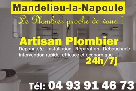 Plombier Mandelieu la Napoule