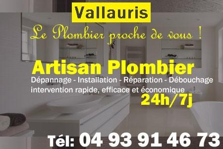 Plombier Vallauris